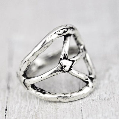 Long Peace Sign Ring