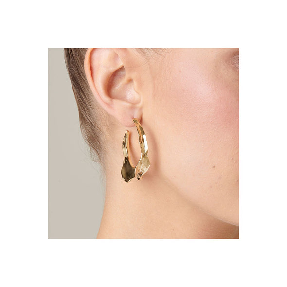 UNOde50 Gold Swagy Earrings