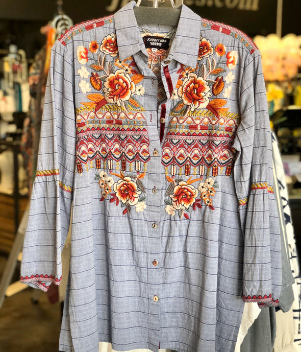 Johnny Was Flare Sleeve Shirt