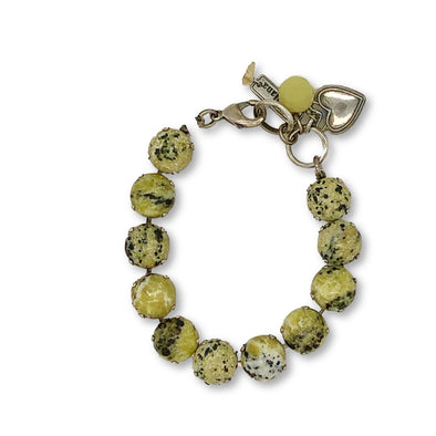 J. Parkes Ltd., Mariana Yellow Turquoise Stone Bracelet, [product, type], J. Parkes Ltd.