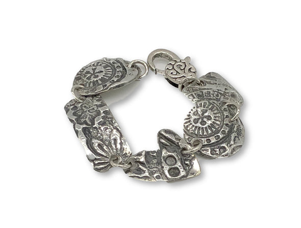 J. Parkes Ltd., J. Parkes Wearable Art Pewter Embossed Bracelet, [product, type], J. Parkes Ltd.