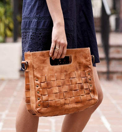 Modern Handwoven Leather Bag