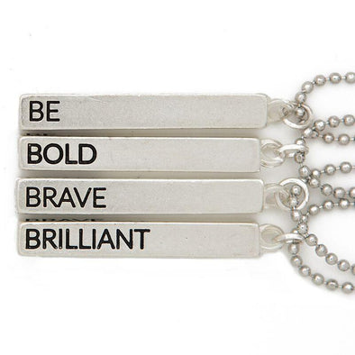 Be Bold Brave Brilliant Cube Necklace