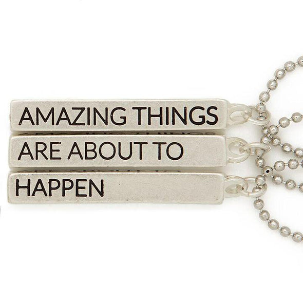 Amazing Things Are About to Happen Cube Pendant