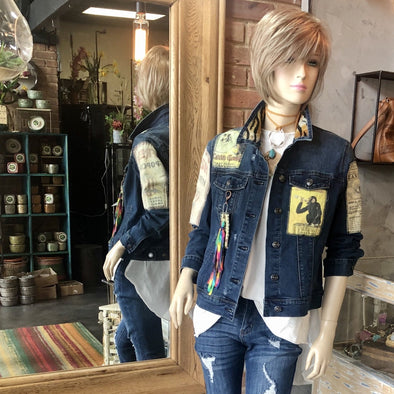J Parkes One of A Kind Patched Jean Jacket (1)