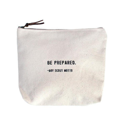 Be Prepared Canvas Pouch