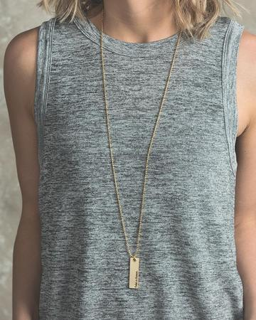 Focus on the Good Bar Pendant Necklace