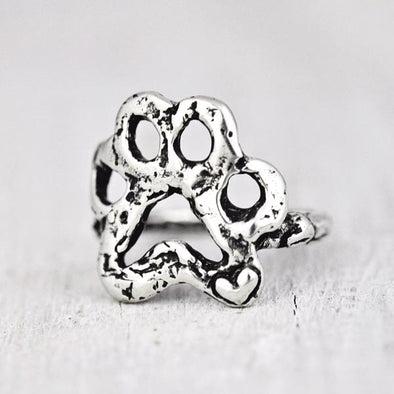 Island Cowgirl Open Paw Ring