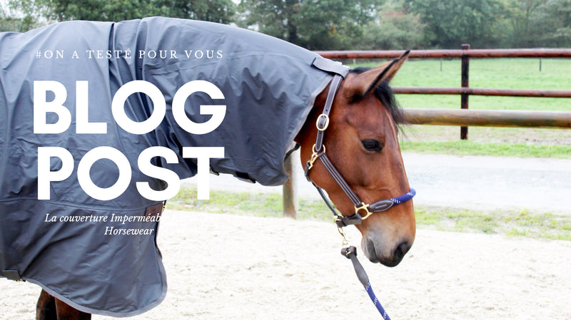 #Onatestépourvous | La couverture imperméable grise Kentucky Horsewear