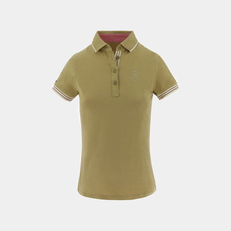 Equithème - Polo jersey manches courtes Taupe | - Ohlala
