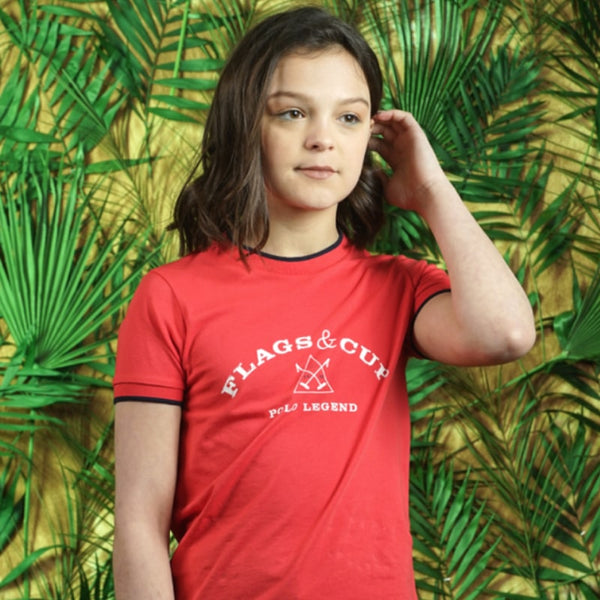 Flags & Cup - T-Shirt Coto enfant corail | - Ohlala Sellerie