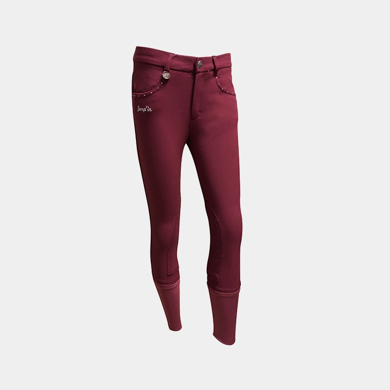 Jump'In - Pantalon d'équitation fille strass Prune | - Ohlala