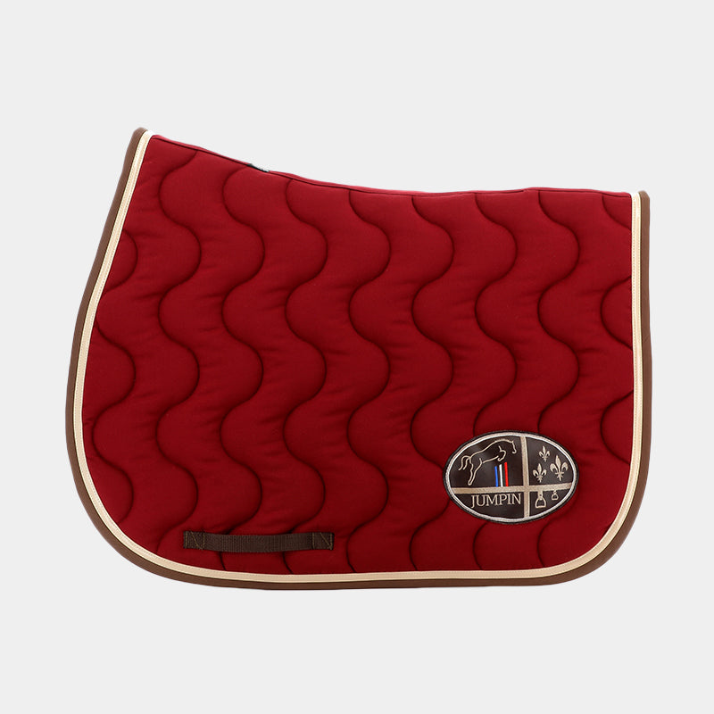 Jump'In - Tapis de selle Bordeaux / Champagne / Choco | - Ohlala