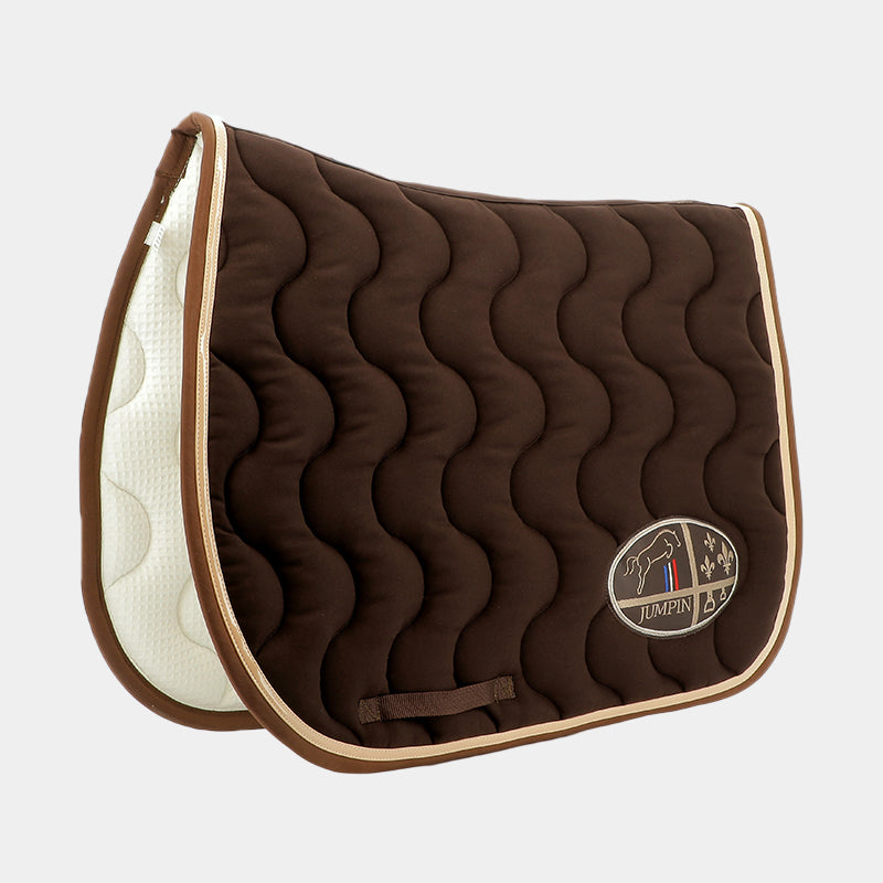 Jump'In - Tapis de selle Chocolat / Champagne / Choco | - Ohlala