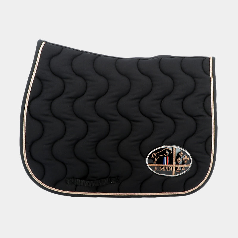Jump'In - Tapis de selle Noir / Rose Gold / Noir | - Ohlala