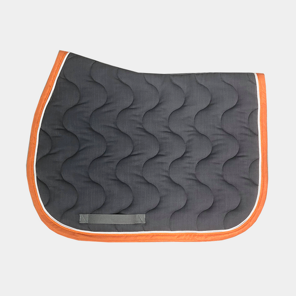 Paddock Sports - Tapis de selle Gris / Blanc / Orange