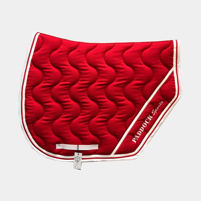 Paddock Sports - Tapis de selle Sport Rouge/ Blanc/ Rouge | - Ohlala