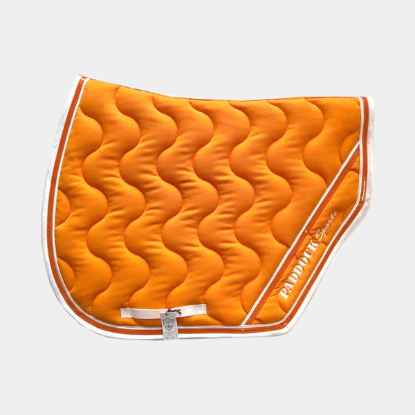 Paddock Sports - Tapis de selle Sport Orange/ Blanc