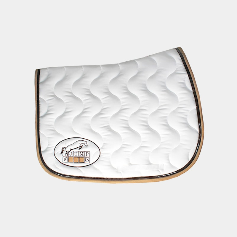 Jump'In - Tapis de selle Blanc / Choco / Caramel | - Ohlala