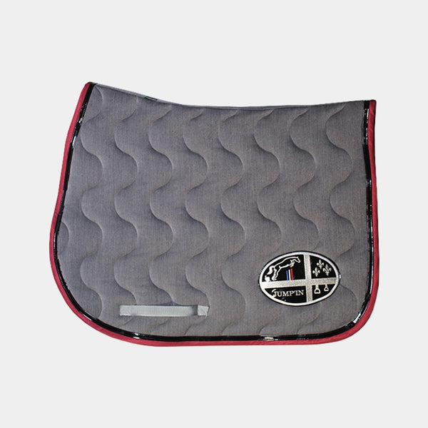 Jump'In - Tapis de selle gris / noir / bordeaux