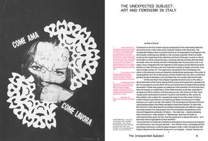 The Unexpected Subject. 1978 Art and Feminism in Italy