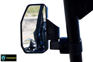 "Offroad Rear View/Side Mirror for UTV with SPOT Mirror - Right & Left Pair for 1.6"" - 2"""
