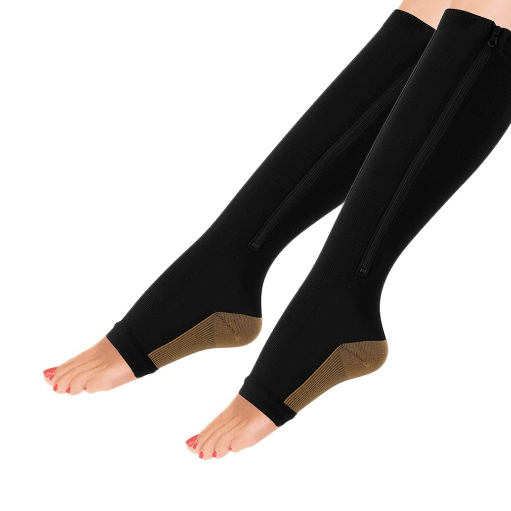 (Limited Promotion 50% OFF) Zippered Compression Socks Support Stockings