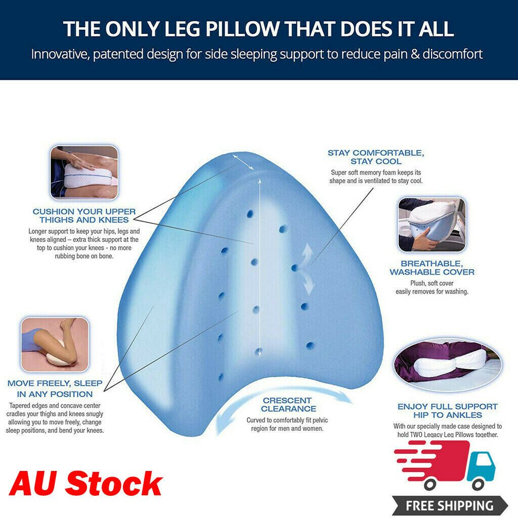 Orthopedic Leg Pillow With Memory Foam 50% OFF TODAY