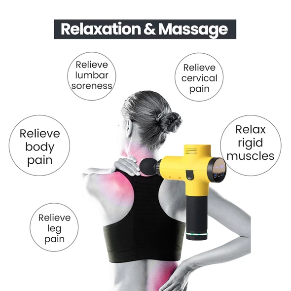 【Last Day Promotion 50% OFF】4 In One, Relieving Pain, 3 Speed Setting Body Deep Muscle Massager