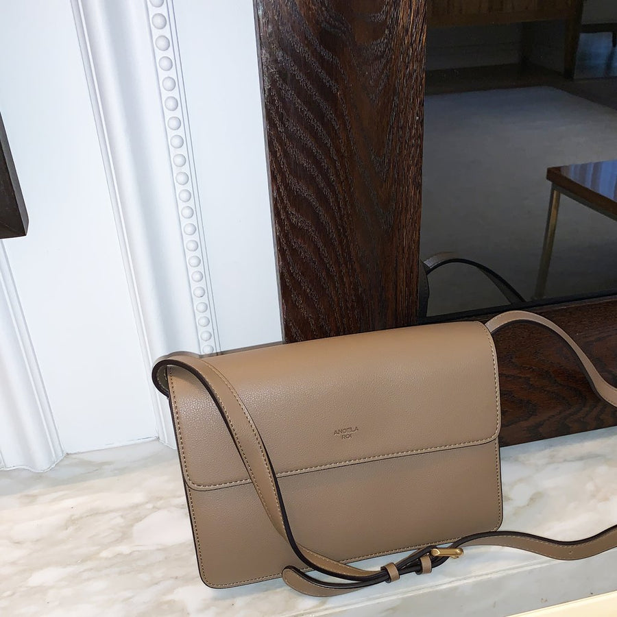 Angela Roi • Hamilton Cross Body Bag • Mud Beige