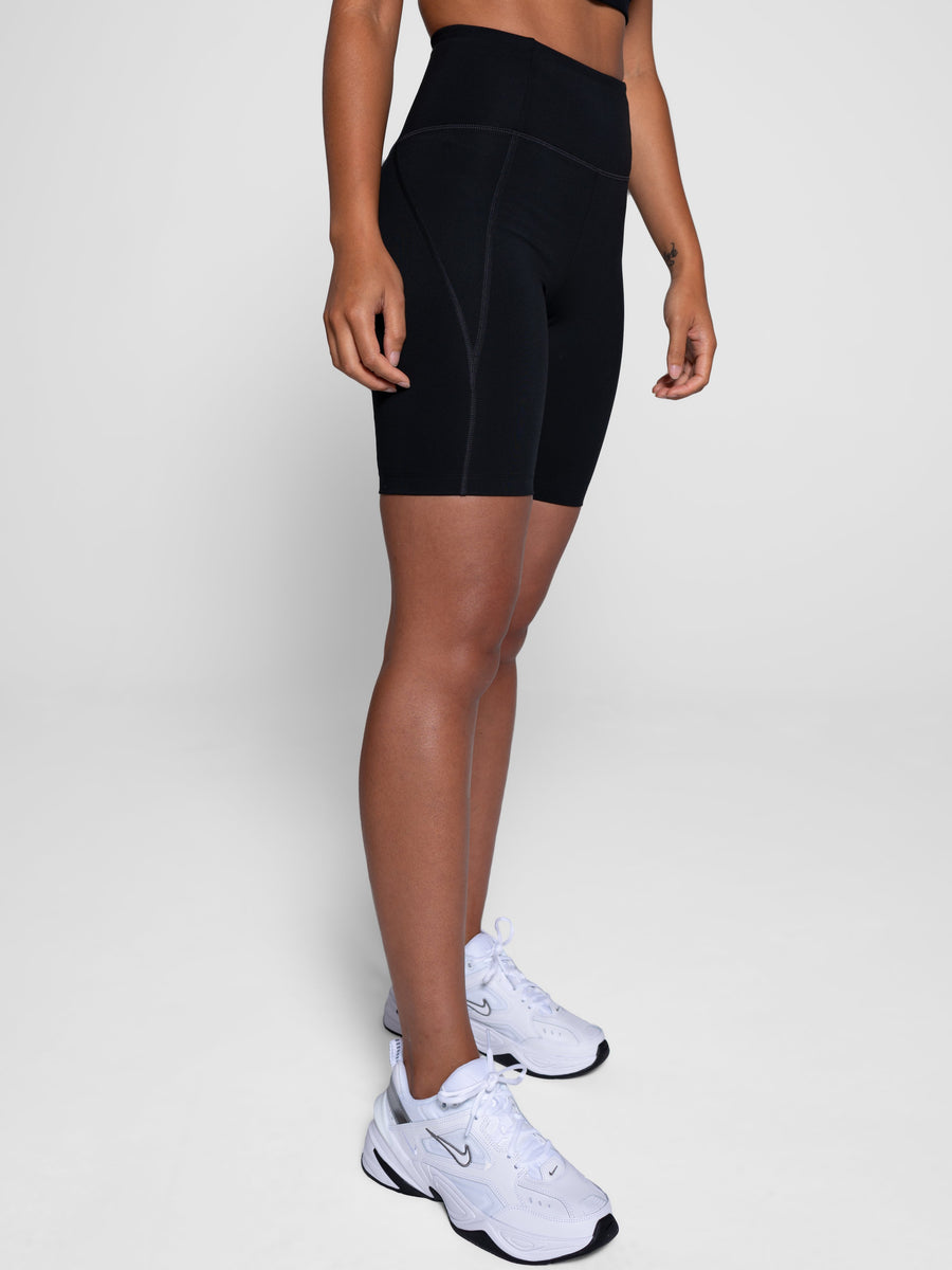 Girlfriend Collective • High Rise Bike Short • Black