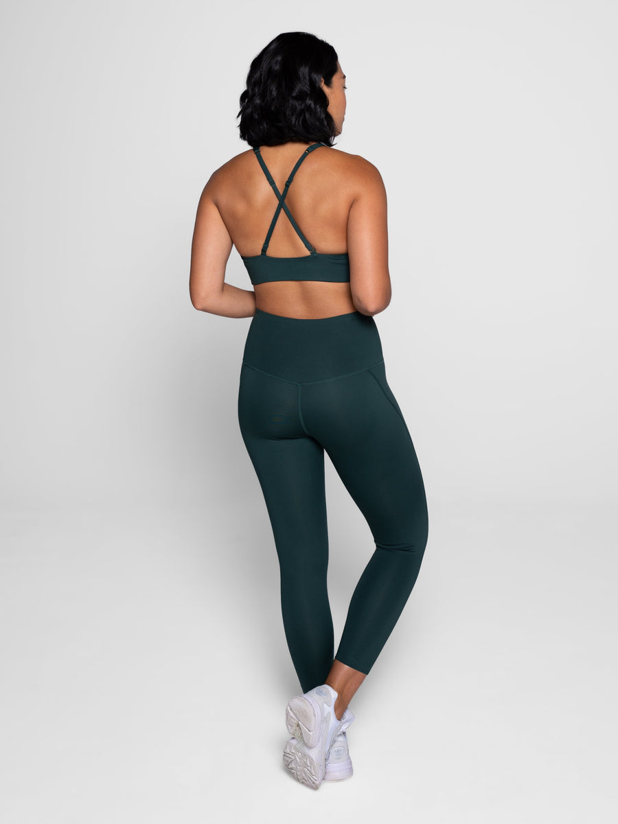 Girlfriend Collective • Compressive High Rise Legging • Moss