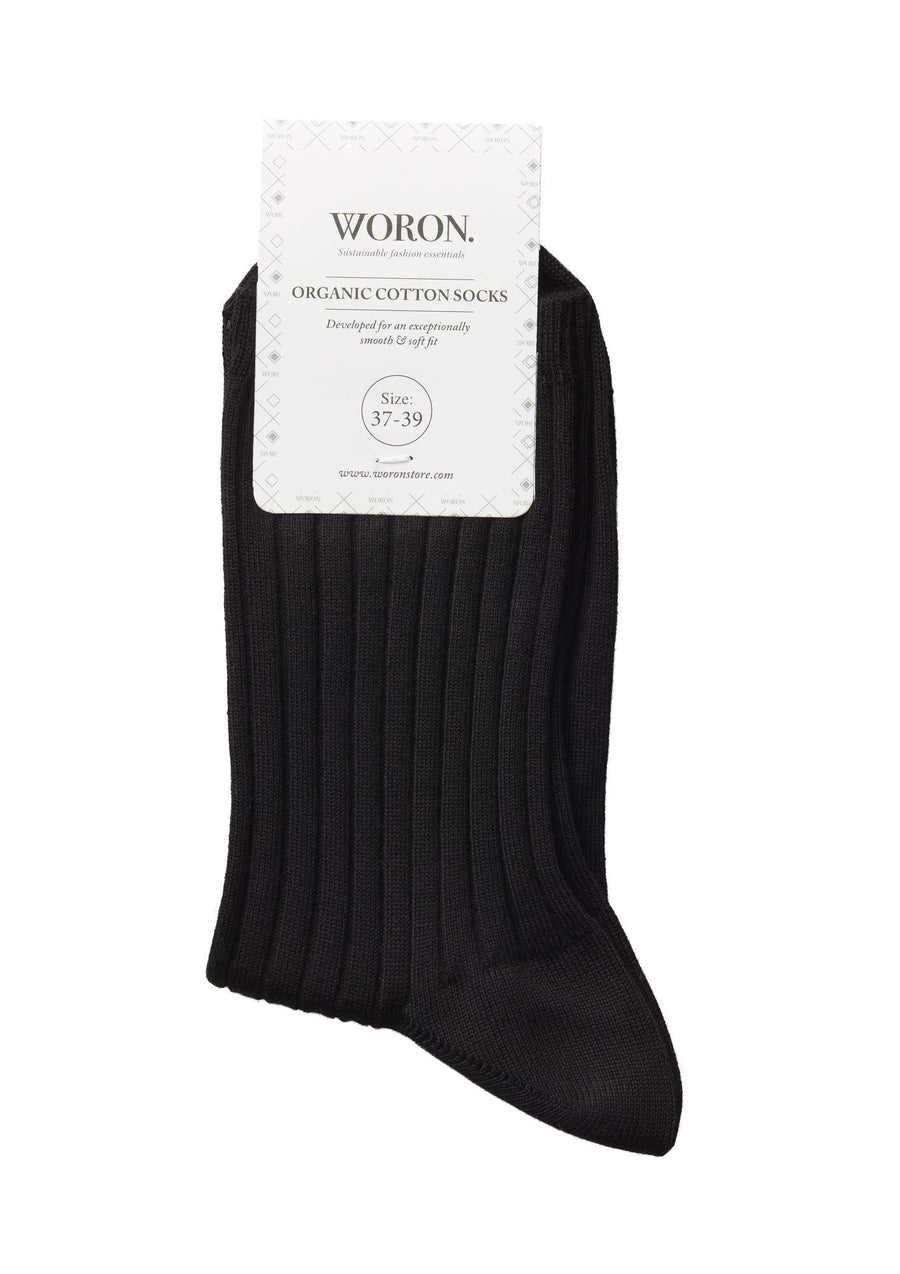 WORON • Organic Cotton Socks • Black