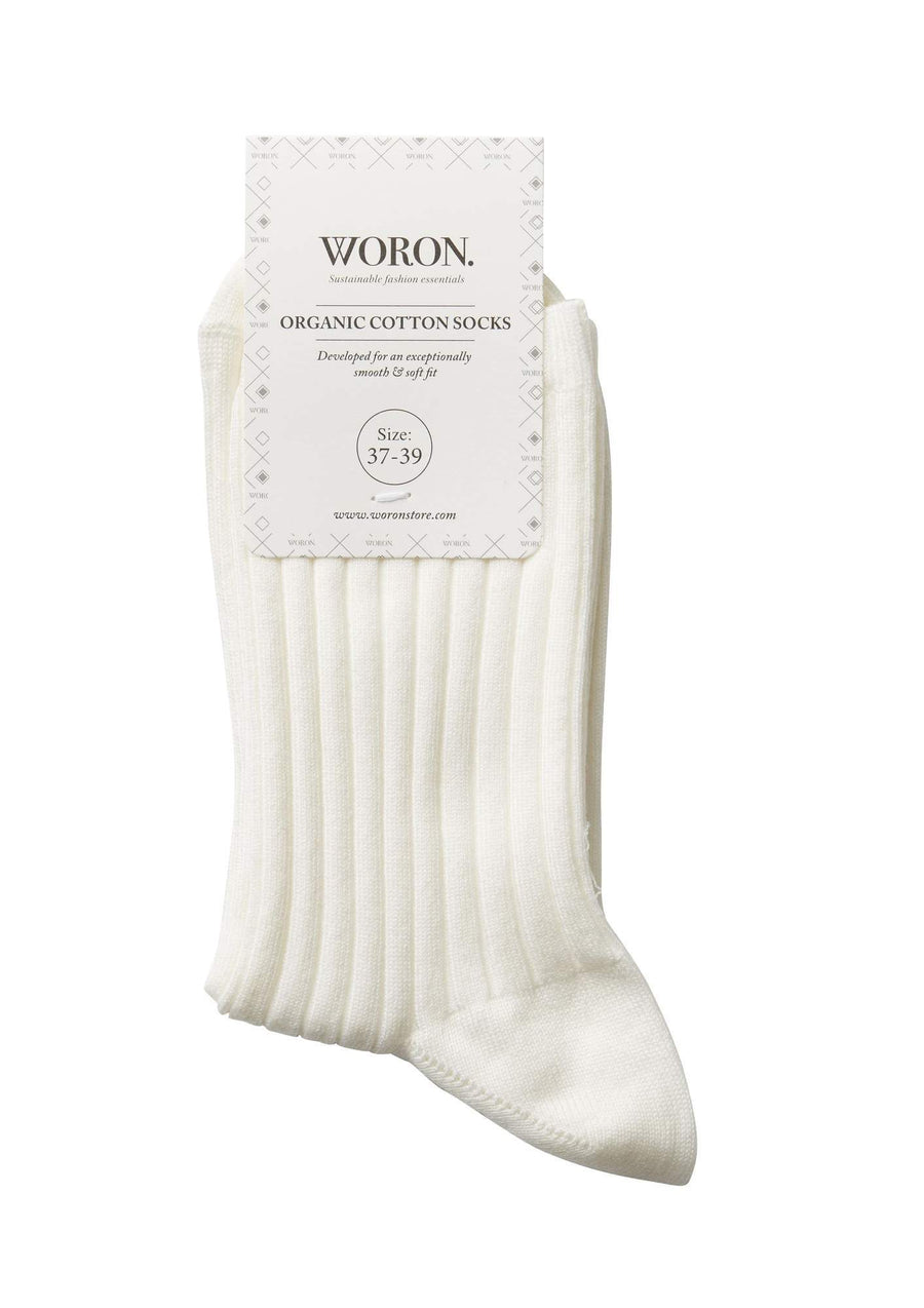 WORON • Organic Cotton Socks • White
