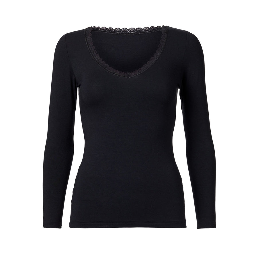 WORON • Venus Long Sleeve Top • Black