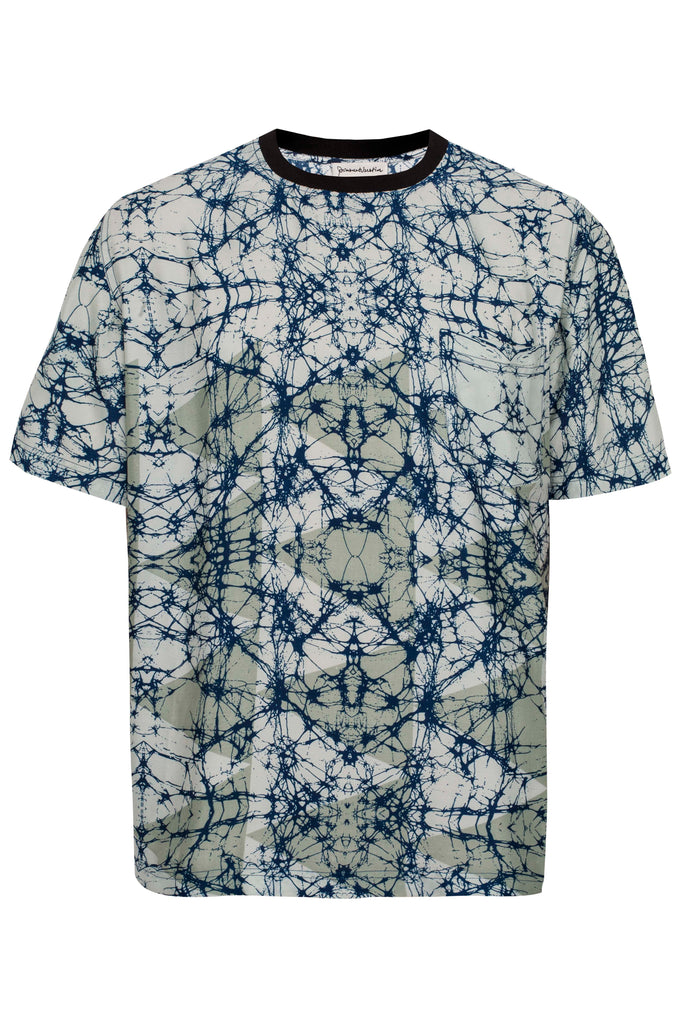 SILKY TOUCH POLLOCK PRINT T-SHIRT