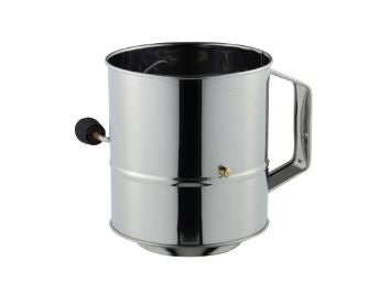 Flour Sifter 5 Cup Crank Stainless Steel Avanti