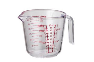 Measure Jug 600ml 2.5 cup Plastic Avanti