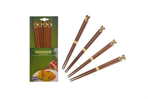 D-Line Ironwood Chopsticks 4 Pairs