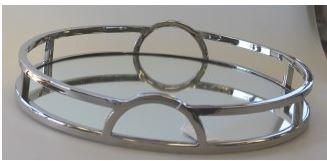 Flair Chrome Mirrored Tray 38cm