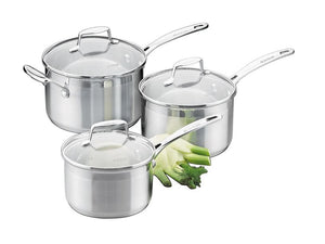 Scanpan Impact Stainless Steel 3 Piece Saucepan Set 16cm/18cm/20cm