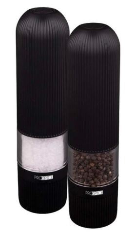 Prospice Linear Black Salt & Pepper 20.5cm Battery