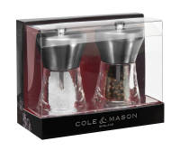 Load image into Gallery viewer, Cole & Mason Chester Stainless Steel Salt & Pepper Set 12.5cm