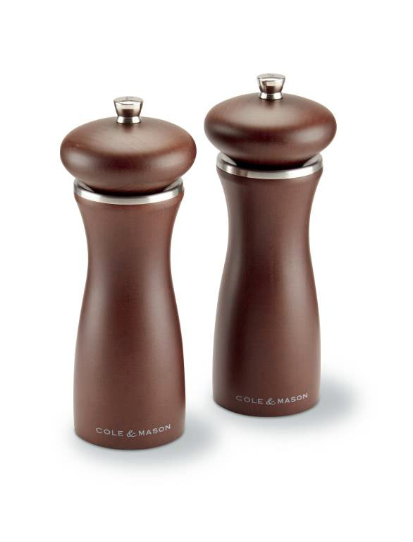 Cole & Mason Sherwood Salt & Pepper Set in Brown Wood
