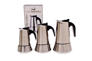STAINLESS STEEL ROMA 4 CUP ESPRESSO MAKER