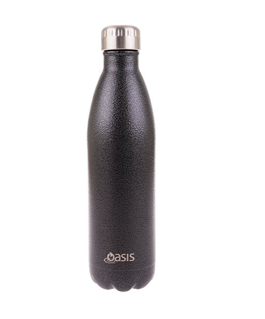 Oasis Stainless Steel Drink Bottle in Hammertone Grey 750ml