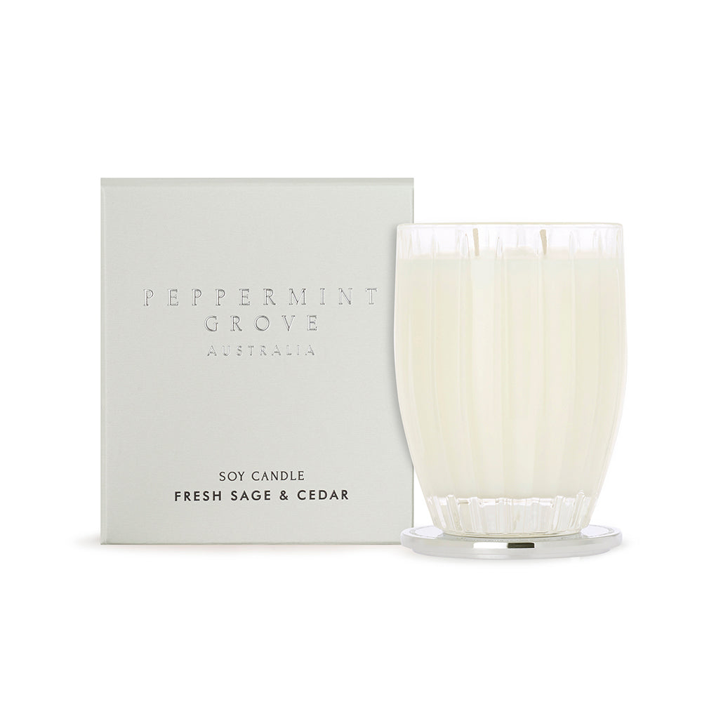 Peppermint Grove Candle Sage Cedar Large