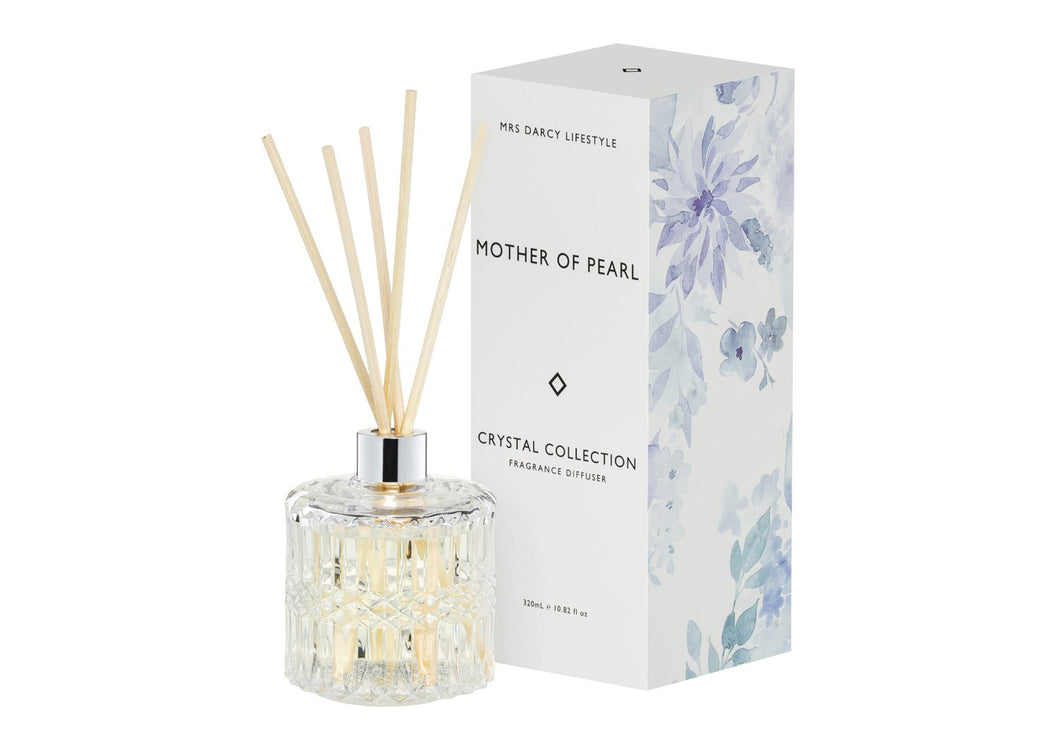 Mrs Darcy Diffuser Mother of Pearl - Lemongrass + Coconut 320ml