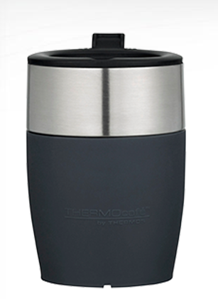 Thermos Cafe Insulated Stainless Steel Travel Cup Grey 230ml