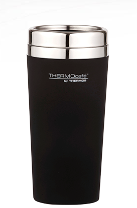 Thermos Stainless Steel Double Wall Coffee Cup 420ml Black